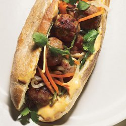 Pork Meatball Banh Mi recipe