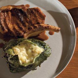 Pork Chops with Chiles Rellenos and Ancho Sauce recipe