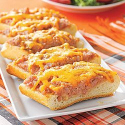 Deviled Ham and Cheddar Toasts