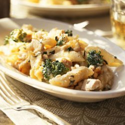 Chicken-and-Pasta Bake with Basil recipe