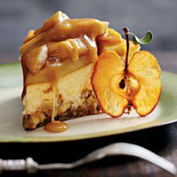 Caramel Apple-Brownie Cheesecake
