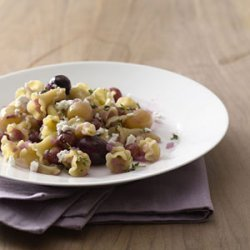 Campanelle With Roasted Grapes and Feta recipe