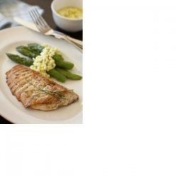 Garlic Halibut Steaks