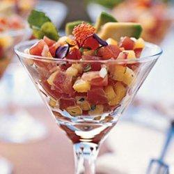 Ahi Tuna Seviche with Mango and Avocado recipe