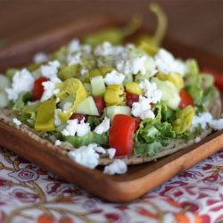 Greek-Salad Pitas