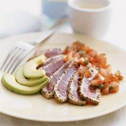 Seared Tuna with Japanese Salsa
