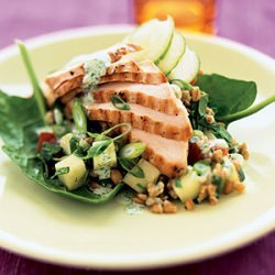 Grilled Chicken and Wheat-Berry Salad recipe