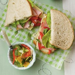 Ham-and-Fontina Sourdough Sandwiches recipe
