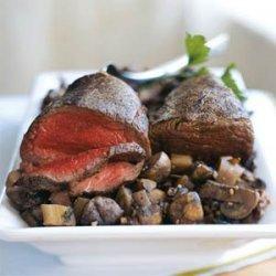 Beef Tenderloin with Parsnip-Mushroom Ragout