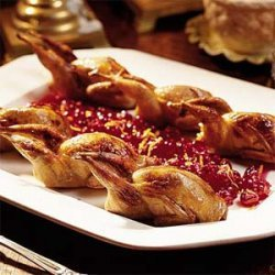 Roasted Quail with Cranberry-Orange-Pecan Stuffing recipe