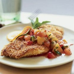 Nut-Crusted Sole with Citrus Salsa