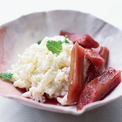 Rice Pudding with Poached Rhubarb