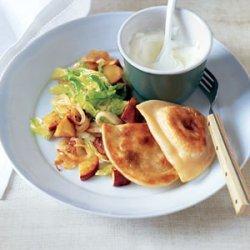 Potato Pierogi with Sauteed Cabbage and Apples
