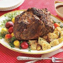Rib Roast with Red-Wine Gravy