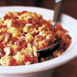 Corn Bread Dressing with Ham, Fennel, and Carrots recipe