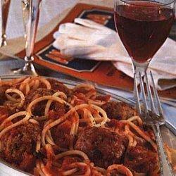 Spaghetti with Sicilian Meatballs