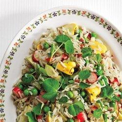 Basmati Rice with Summer Vegetable Salad