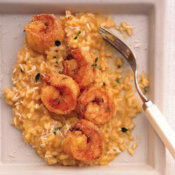 Fried Cornmeal Shrimp with Butternut Squash Risotto