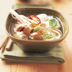 Asian Turkey-Noodle Soup with Ginger and Chiles recipe