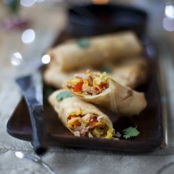 Spring Rolls with Soy-Ginger Dipping Sauce