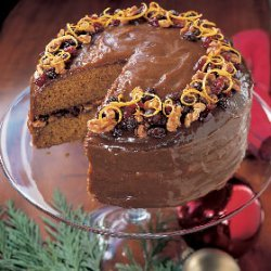 Spiced Pumpkin Cake with Caramel Icing