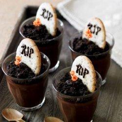 Dark Chocolate Graveyard Pots de Crème recipe