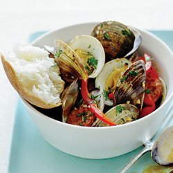 Steamed Clams and Chorizo