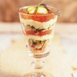 Creamy Crab and Caviar Parfaits recipe