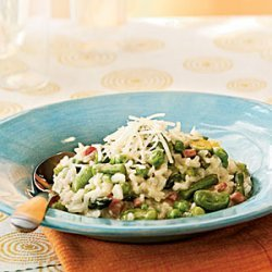Risotto with Spring Vegetables and Smoked Ham
