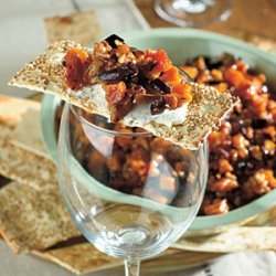 Peach and Pecan Tapenade with Goat Cheese recipe