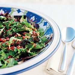 Fall Salad with Nuts and Pomegranates