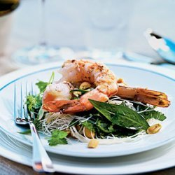 Tiger Prawn, Noodle, and Herb Salad recipe