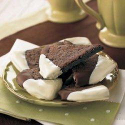 Dark Chocolate-Espresso Shortbread