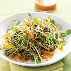 Spicy Sunflower Salad with Carrot Dressing recipe