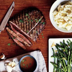 Pan-Grilled Flank Steak with Soy-Mustard Sauce