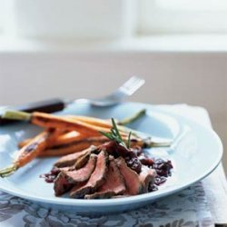 Rosemary Salt-Crusted Venison with Cherry-Cabernet Sauce recipe