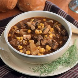 Beef Stew with Corn and Fennel recipe