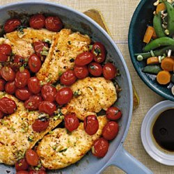 Chicken Cutlets with Tomato Saute
