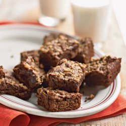 Fudgy Mocha-Toffee Brownies recipe
