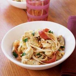 Linguine with Caramelized Artichokes and Prosciutto recipe