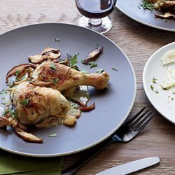 Braised Chicken with Apples and Calvados