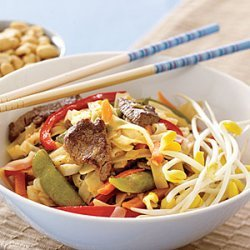 Rice Noodles with Beef