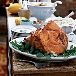 Apricot and Sherry-Glazed Ham recipe