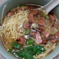 Nepali style noodles (Thukpa)