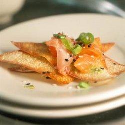Salmon Carpaccio with Wasabi