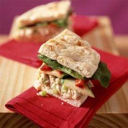 Chutney-Turkey Salad on Focaccia