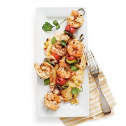Grilled Shrimp and Smoky Grilled-Corn Grits