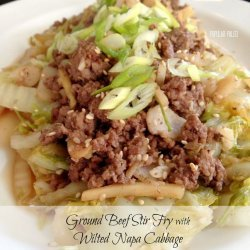 Beef and Napa Cabbage Stir-Fry