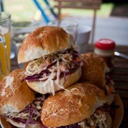 Corned Beef and Coleslaw Sandwich