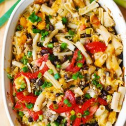 Mexican Pasta with Black Beans